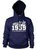 MADE IN 1959 ALL ORIGINAL PARTS HOODIE MENS WOMENS BIRTHDAY PRESENT FUNNY COOL