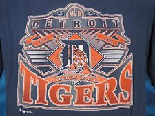 vintage 90s DETROIT TIGERS T-Shirt MEDIUM baseball mlb michigan soft thin