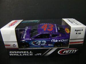 Darrell Bubba Wallace 2018 Click N Close #43 Petty Camaro ZL1 1/64 NASCAR