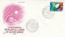 United Nations 1975 Peaceful Uses of Outer Space FDC Geneva Cancel Unadressed