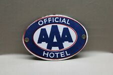 AAA HOTEL AUTO CLUB  PORCELAIN SIGN GAS OIL CAR SERVICE  FARM 66
