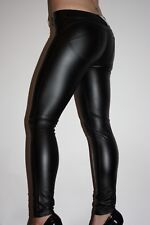 Lederhose Leder Leggings Kunstleder Hose Schwarz Freddy WR UP Gr. M low waist