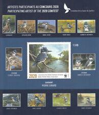 Canada MNH QUEBEC Wildlife Conservation 2020  NEW  Souvenir sheet  DQ104