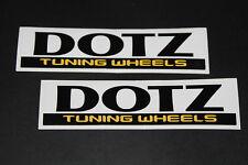 DOTZ Felgen Rims Alufelgen Aufkleber Sticker Decal Kleber Logo Schriftzug Tuning