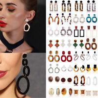 Boho Vintage Acrylic Resin Earrings Tortoise Shell Earrings Women Hoop Earrings
