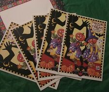 Lot Of 6 Mary Engelbreit Hallowen Greeting Cards With Envelopes