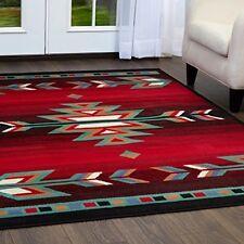 5x7 Red Aztec Area Rugs 5x7 Accent Floor Carpet Southwestern Style Arrow Black