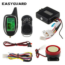 Easyguard 2 way motorcycle alarm system remote engine start motion/shock sensor
