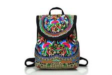 Embroidery Backpack Women Ethinic Canvas Floral Drawstring Girl School Bag Gifts