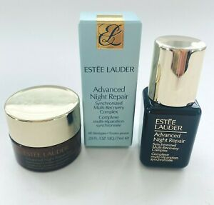 Estee Lauder Advanced Night Repair Eye Creme & Recovery Complex Face Serum Mini