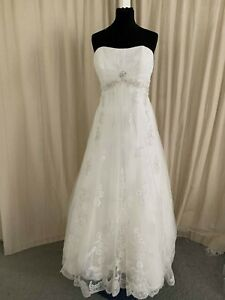 Jade Daniels from Dessy Bridal New Wedding Dress ivory lace - Size 16