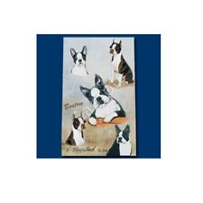 Inchiostro Roller Penna Cane Razza Ruth maystead linea sottile-BOSTON TERRIER DOG