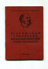 Ausweis   Junger Komsomol  Partei Lenin   komplett