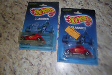 Hot Wheels 3-Window '34 Classics #1473 New in Package 1988 Red 2 variations LOOK