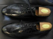 Loake 202B Black leather Brogues Size 11 NEW