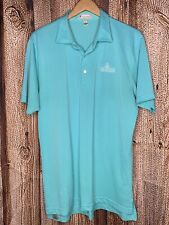 Peter Millar Summer Comfort Golf Polo Shirt Men Large Blue Las Vegas