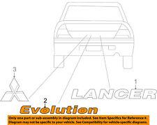 MITSUBISHI OEM 2006 Lancer Trunk Lid-Emblem Badge Nameplate 7415A007