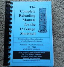 12 Gauge Shotshell The Complete Reloading Manual Load Books Latest Version 407pg