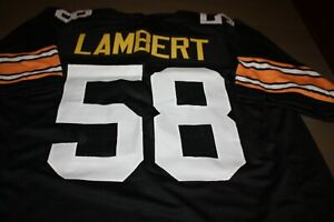 JACK LAMBERT #58 HOME CUSTOM STITCHED BLACK HOME JERSEY SIZE MENS XLG