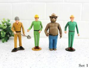 1970s Tonka Smokey The Bear & Park Rangers Action Figures Plastic Set 1 / z148