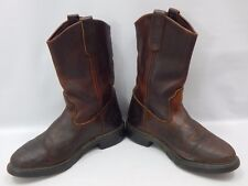 vtg Red Wing Leather Mens Pull On Engineer Shop Motorcycle Boots 7D Brown