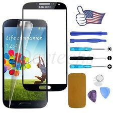 Samsung Galaxy S4 Front Screen Glass Lens Replacement Repair Kit Tools Black