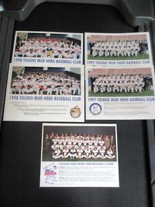 1996-1998 TOLEDO MUDHENS BASEBALL TEAM ISSUED PHOTO LOT OF 5