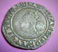 Elizabeth 1st Tudor silver sixpence dated 1569 mm coronet high grade