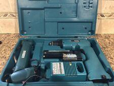 "MAKITA 6011D 3/8"" 12V Cordless Drill Driver w/ 2 Batteries, Flashlight, and CASE"