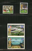 T288  Honduras  1998  football soccer   set & sheet   MNH