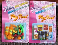 GLORIA DOLL HOUSE FURNITURE Size Fridge Food + Vegetables PlaySets For Barbie
