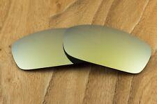 Metallic 24k Gold Iridium Polarized Mirror Sunglass Lenses for Oakley X-Squared
