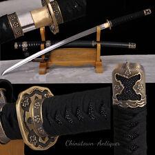 Japanese Tachi Samurai Sword Katana Hand Folded pattern steel sharp Blade #2361