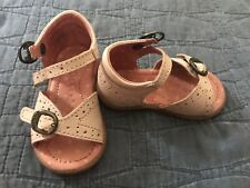 Kickers Baby Girl Pink Leather Buckle Sandal Size 3