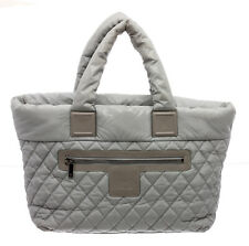 Chanel Grey Quilted Nylon Large Coco Cocoon Tote Bag