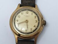 Vintage Ingersoll Mens 10 Microns Gold Plated Mechanical Wrist Watch, Repair
