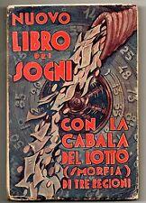 NUOVO LIBRO DEI SOGNI con CABALA DEL LOTTO- SMORFIA 1935