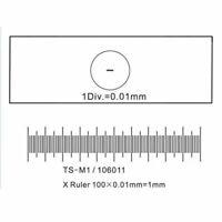 Cross Dot 0.01MM Microscope Stage Micrometer Calibration Slide 25mm*75mm