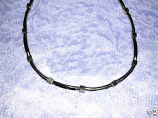 NEW GOTHIC SLICED METAL TUBE & SQUARE BEADS STRAND ROCKER INDUSTRIAL NECKLACE