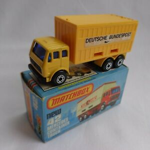 Matchbox Lesney Superfast No42 Mercedes Truck RARE YELLOW GERMAN Issue VNM BOXED
