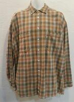Vintage LEVIS Silver Tab Thick Flannel Plaid Shirt LARGE