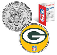 GREEN BAY PACKERS NFL JFK Kennedy Half Dollar US Coin *Officially Licensed*