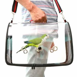 Pet Bird Travel Carrier Transport Cage Breathable Parrot Outdoor Bird Crate