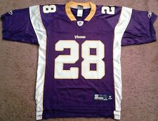Adrian Peterson #28 Vikings On Field Reebok Equipment Jersey (size m)