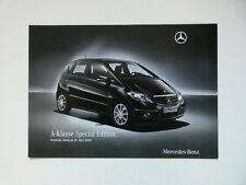 Prospekt / Katalog / Brochure Mercedes W169 A-Klasse Special Edition  04/09