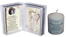 Daughter Photo Memorial angel keepsake poem box free Personalised candle #5