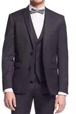 Bar III 7737 Men's Charcoal Solid Extra Slim Fit Jacket Sz 36 S