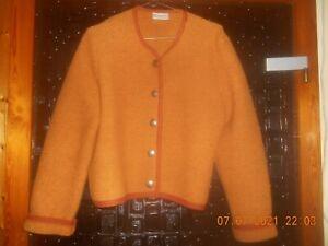Landhausmode Damenstrickjacke Trachtenjanker orange Gr.42 ? Wolle
