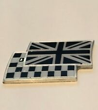 Black and white Union Jack and chequered flag car badge MG ZR TF MGF ZS ZT ZTT