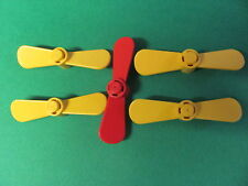 LEGO 4745 @@ Propeller 2 Blade Twisted (x5) @@ RED YELLOW @@ ROUGE JAUNE
